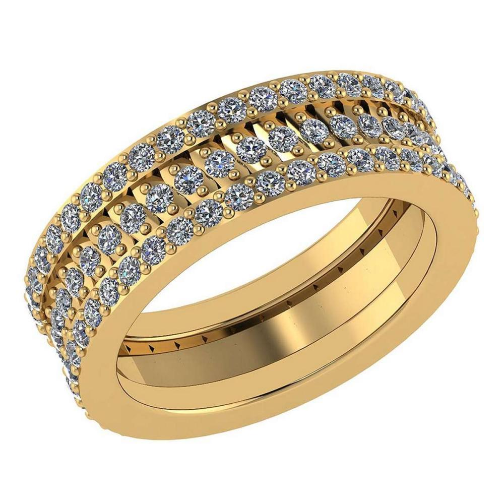 Certified 1.65 Ctw Diamond Engagement /Wedding 14K Yellow Gold Promises Band #1AC17068