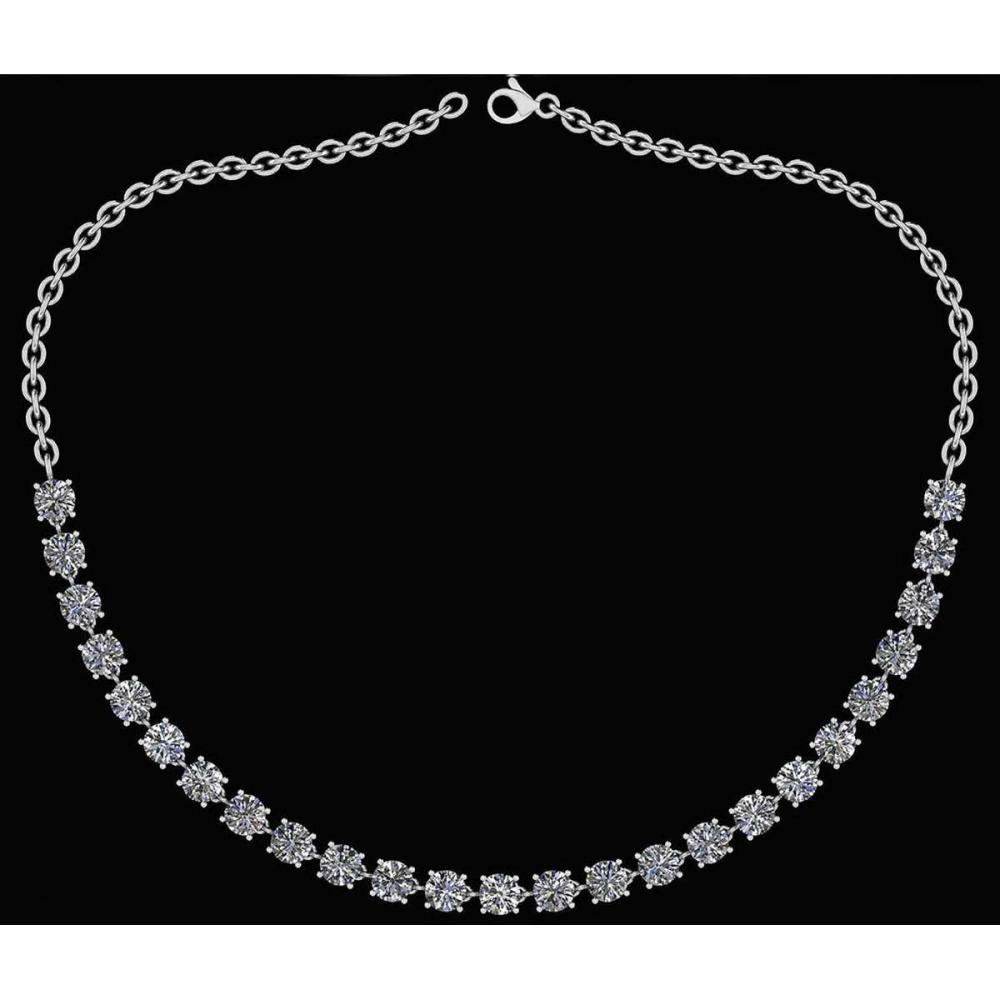 Certified 32.50 Ctw Diamond Necklace For Ladies 14K White Gold (SI2/I1) #1AC19319