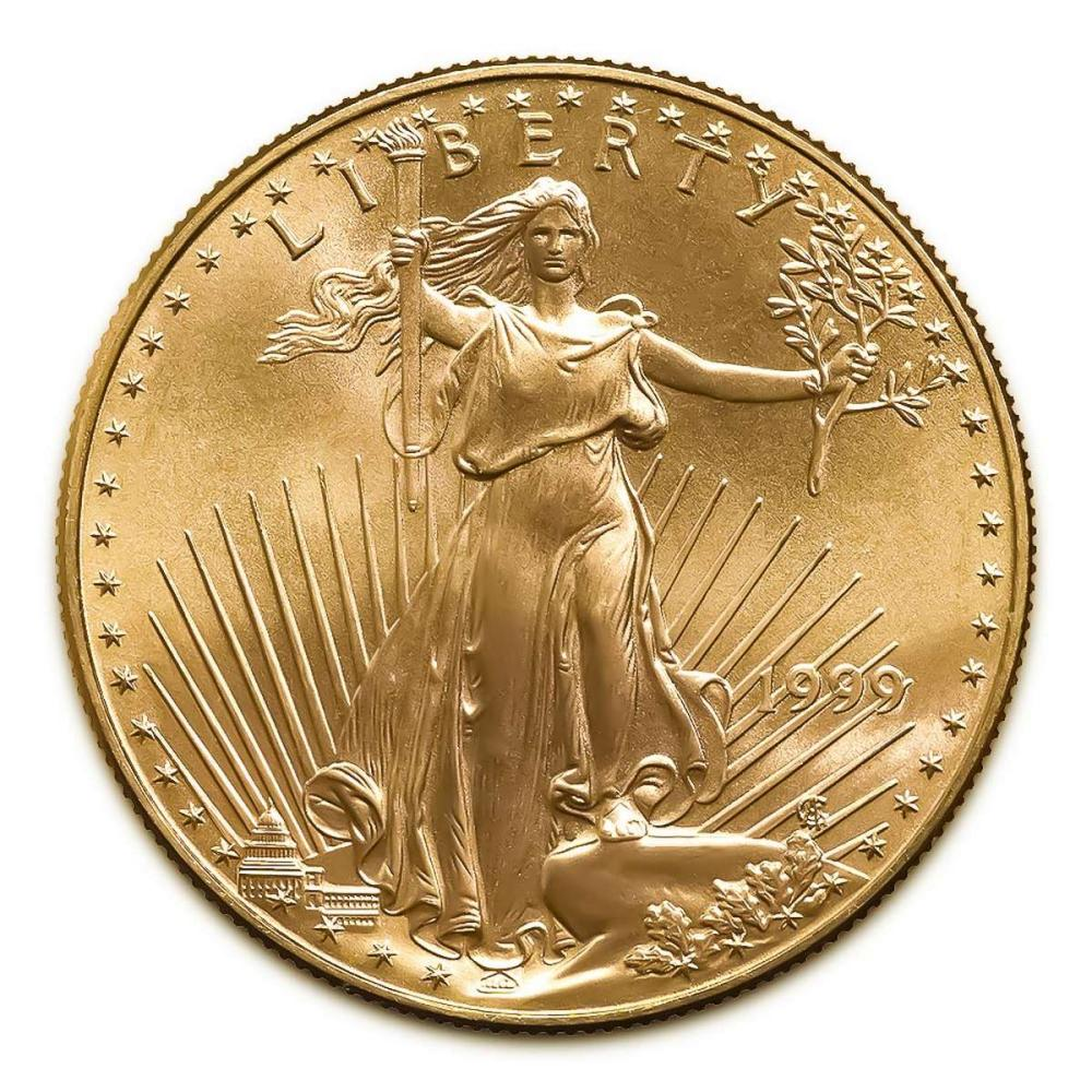 Lot 1111160: 1999 American Gold Eagle 1oz Uncirculated #1AC94929