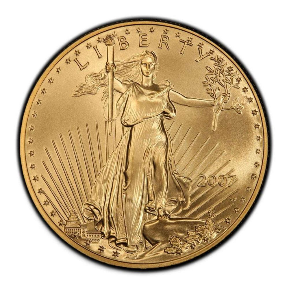 Lot 1111181: 2007-W American Gold Eagle 1oz Uncirculated #1AC94920