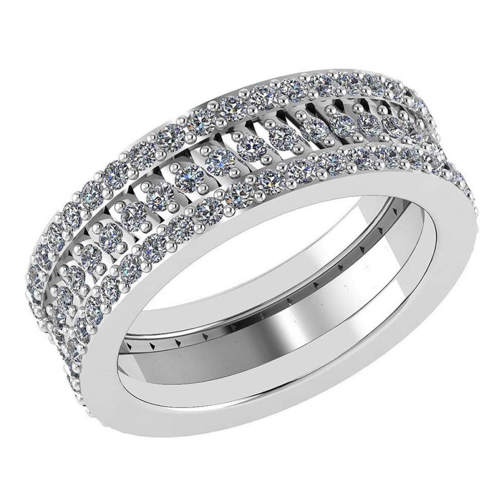 Certified 1.65 Ctw Diamond Engagement /Wedding 14K White Gold Promises Band #1AC17070