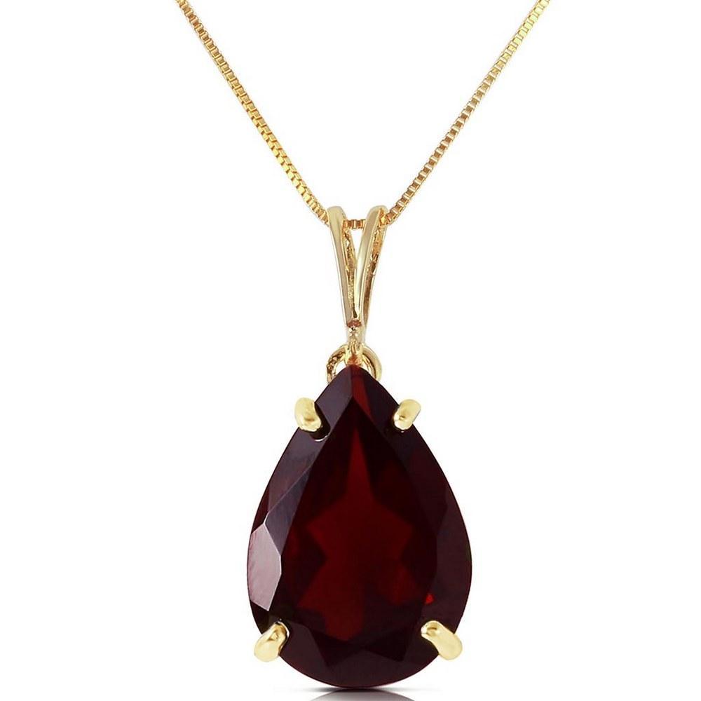 5 Carat 14K Solid Gold Written In Naturale Garnet Necklace #1AC92939