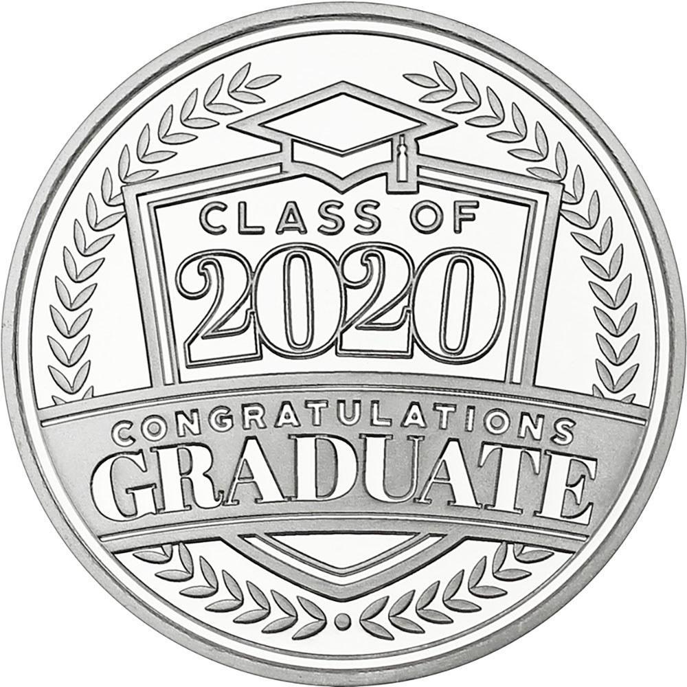Congratulations Class Of 2020 .999 Silver 1 oz Round #1AC66861