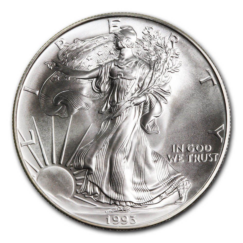 1993 1 oz Silver American Eagle BU #1AC66799