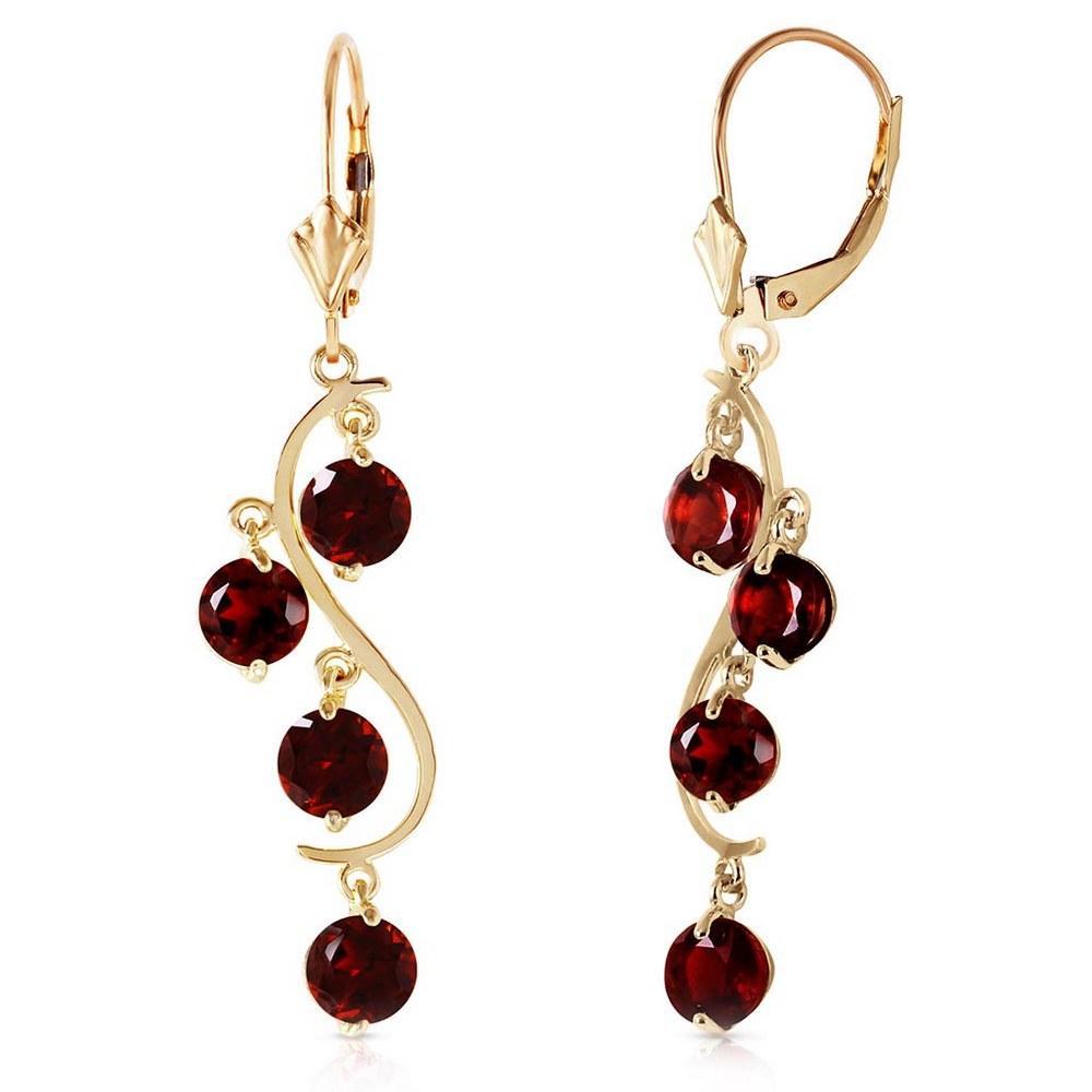 4.95 Carat 14K Solid Gold Grape Garnet Earrings #1AC92552