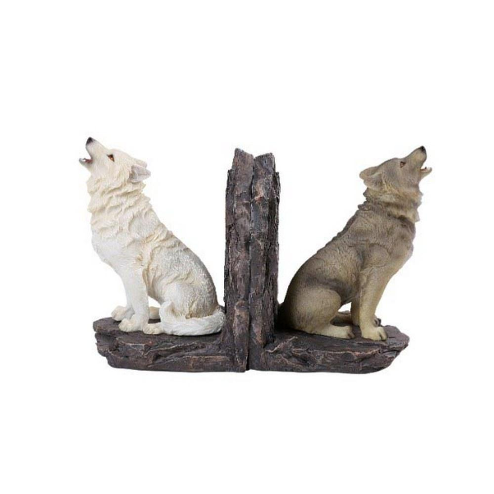 WOLF BOOKENDS SET #1AC67033