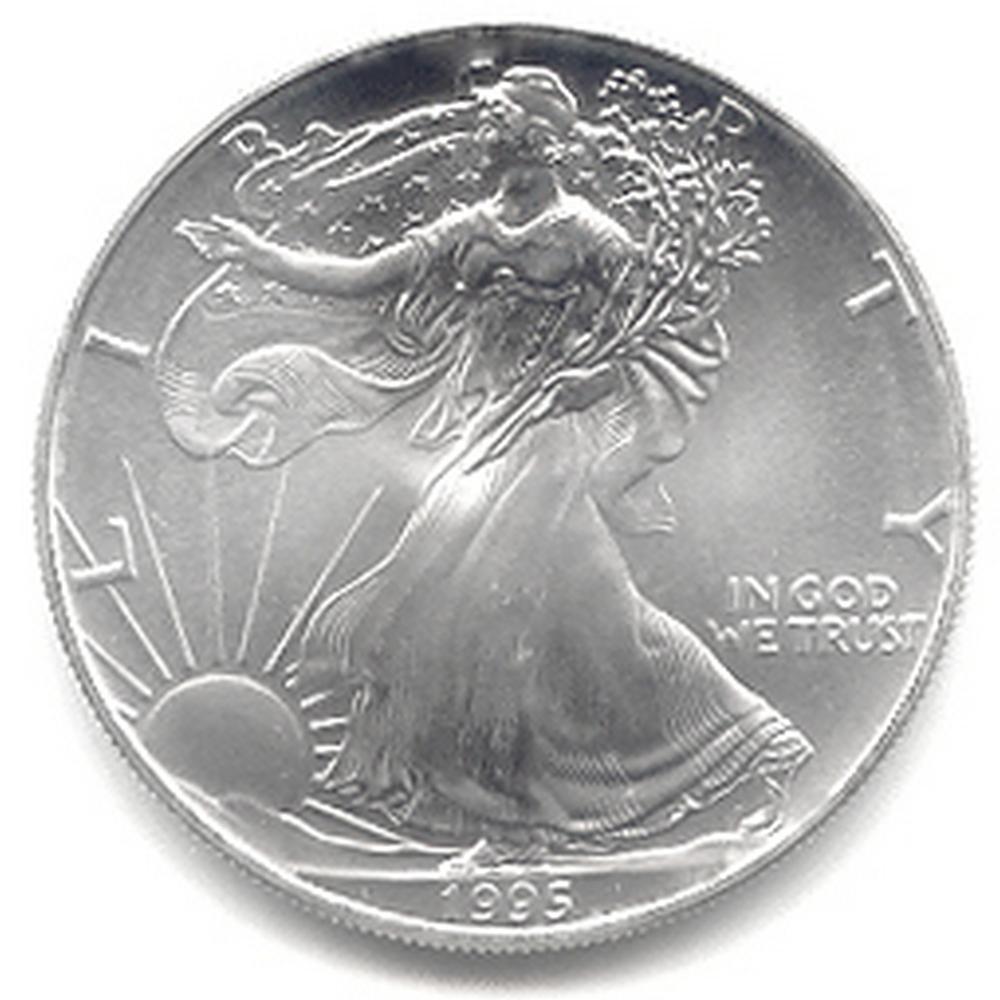 1995 1 oz Silver American Eagle BU #1AC66797