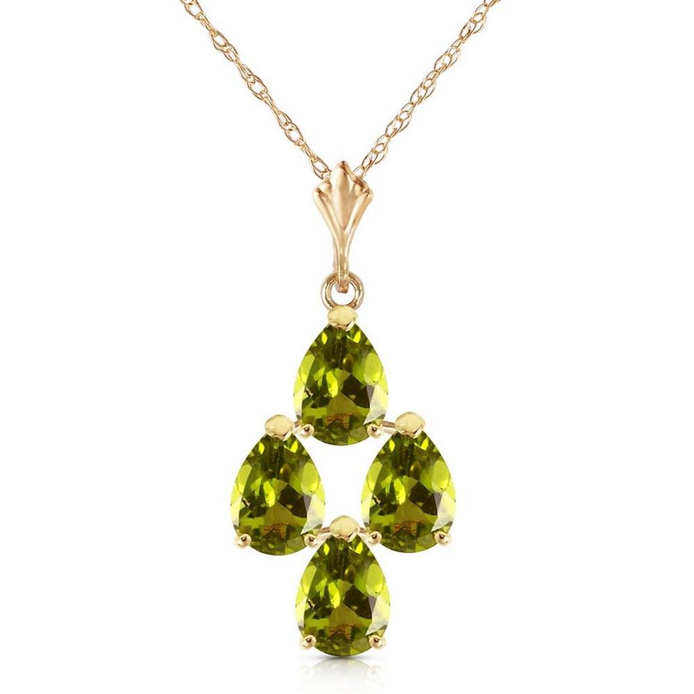 2.25 Carat 14K Solid Gold Aurora Leigh Peridot Necklace #1AC92420