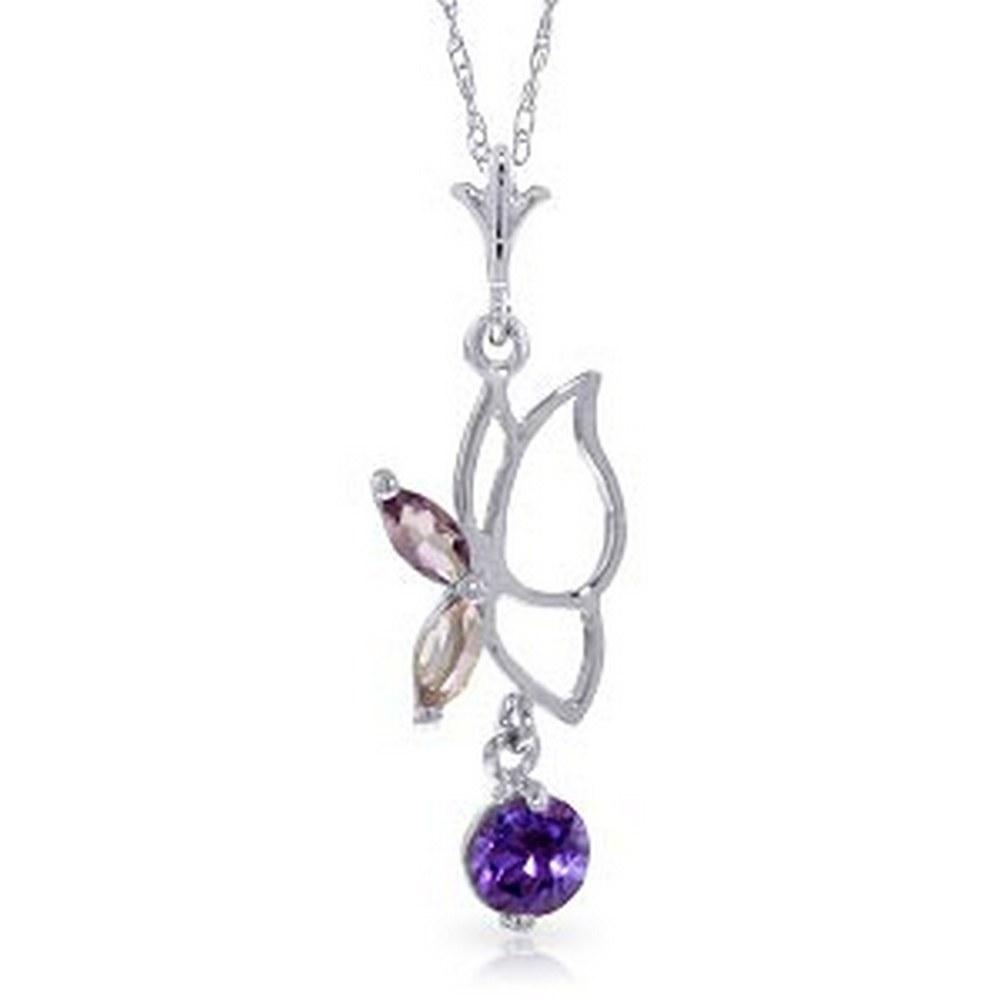 0.4 Carat 14K Solid Gold Permit Me This Dream Amethyst Necklace #1AC93693