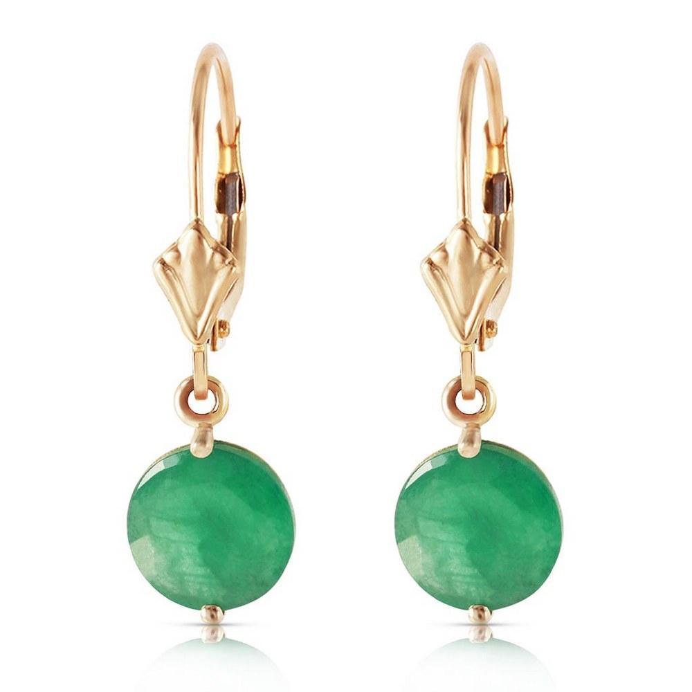 3.3 Carat 14K Solid Gold Prettygirl Emerald Earrings #1AC93826