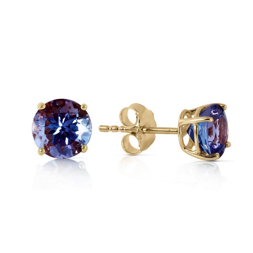 0.95 Carat 14K Solid Gold Joy In Your Eyes Tanzanite Earrings #1AC92483