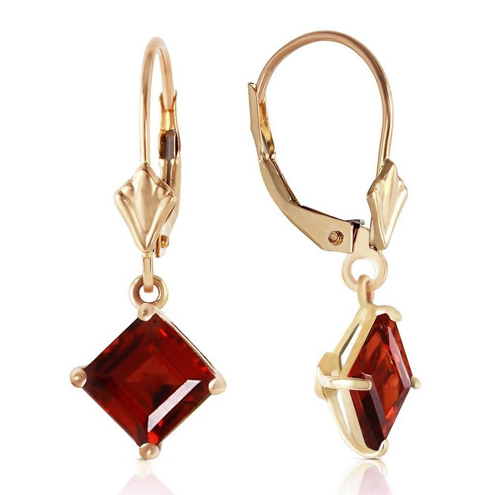 3.2 CTW 14K Solid Gold Carrie Garnet Earrings #1AC92261