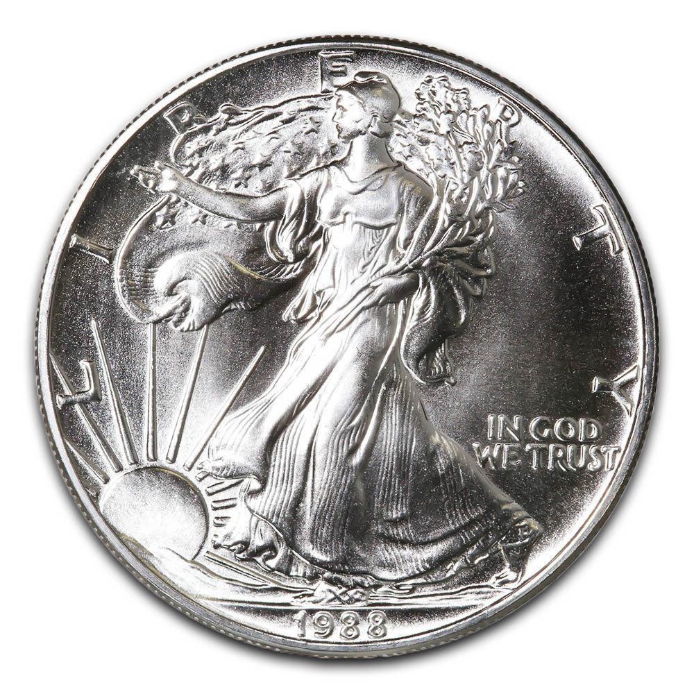 1988 1 oz Silver American Eagle BU #1AC66804