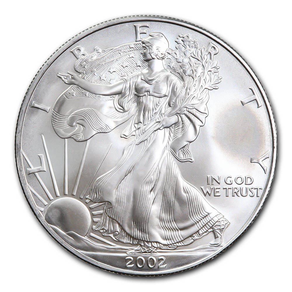 2002 1 oz Silver American Eagle BU #1AC66792