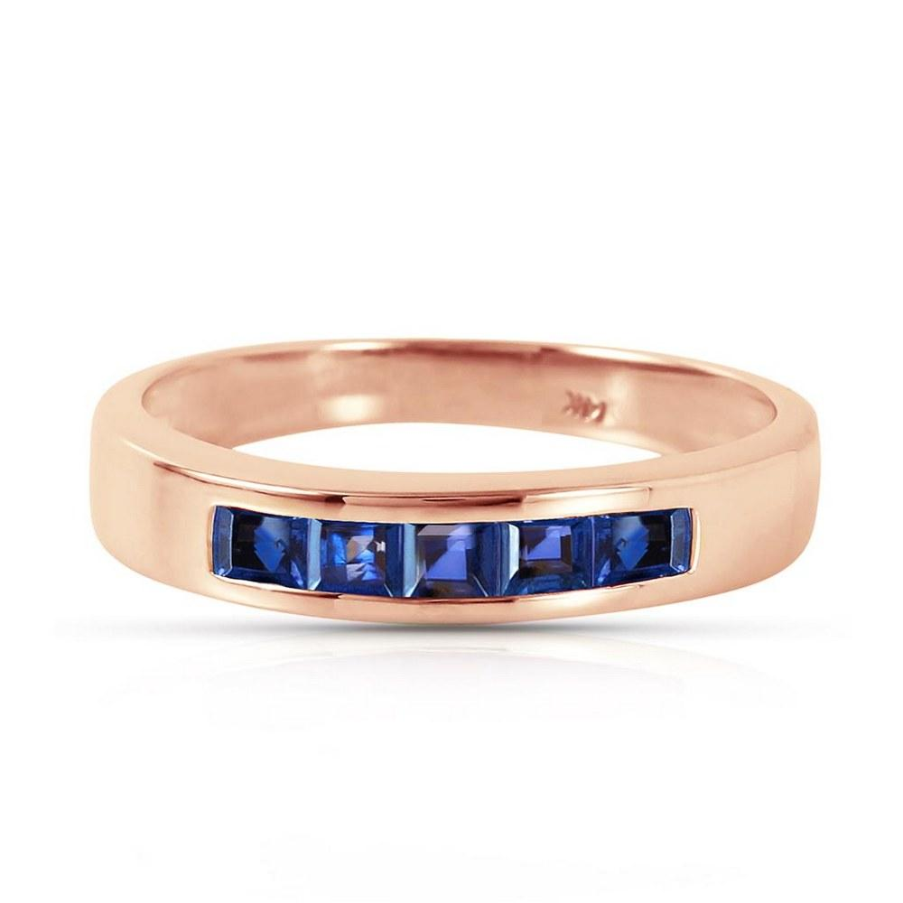 14K Solid Rose Gold Rings with Natural Sapphires #1AC93593