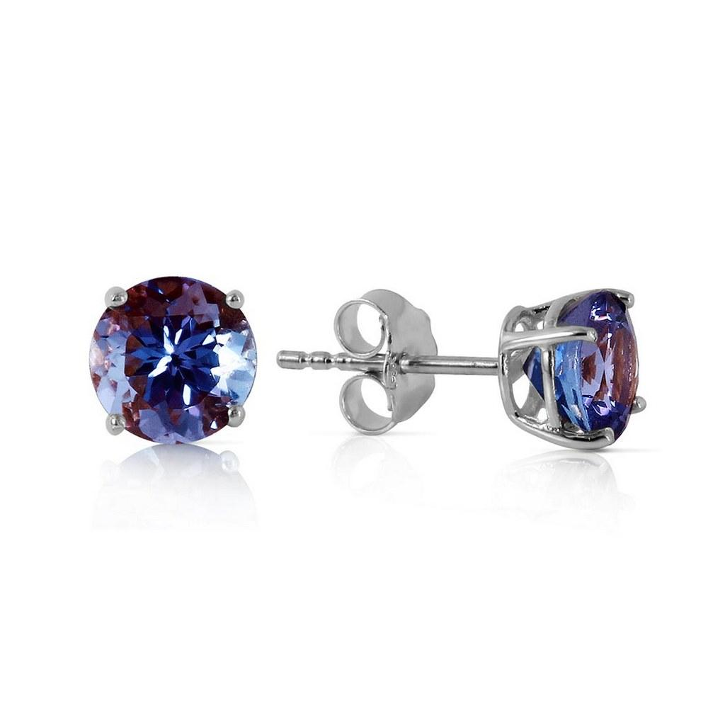 0.95 CTW 14K Solid White Gold Own Standard Tanzanite Earrings #1AC92482