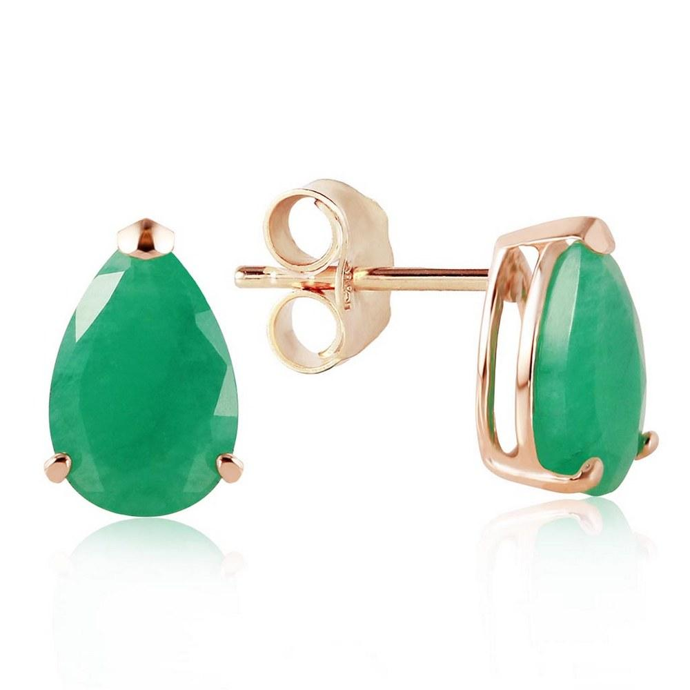 2 Carat 14K Solid Gold You Are All Mine Emerald Earrings #1AC93763
