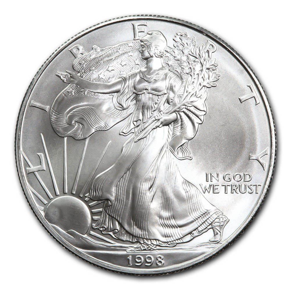 1998 1 oz Silver American Eagle BU #1AC66796