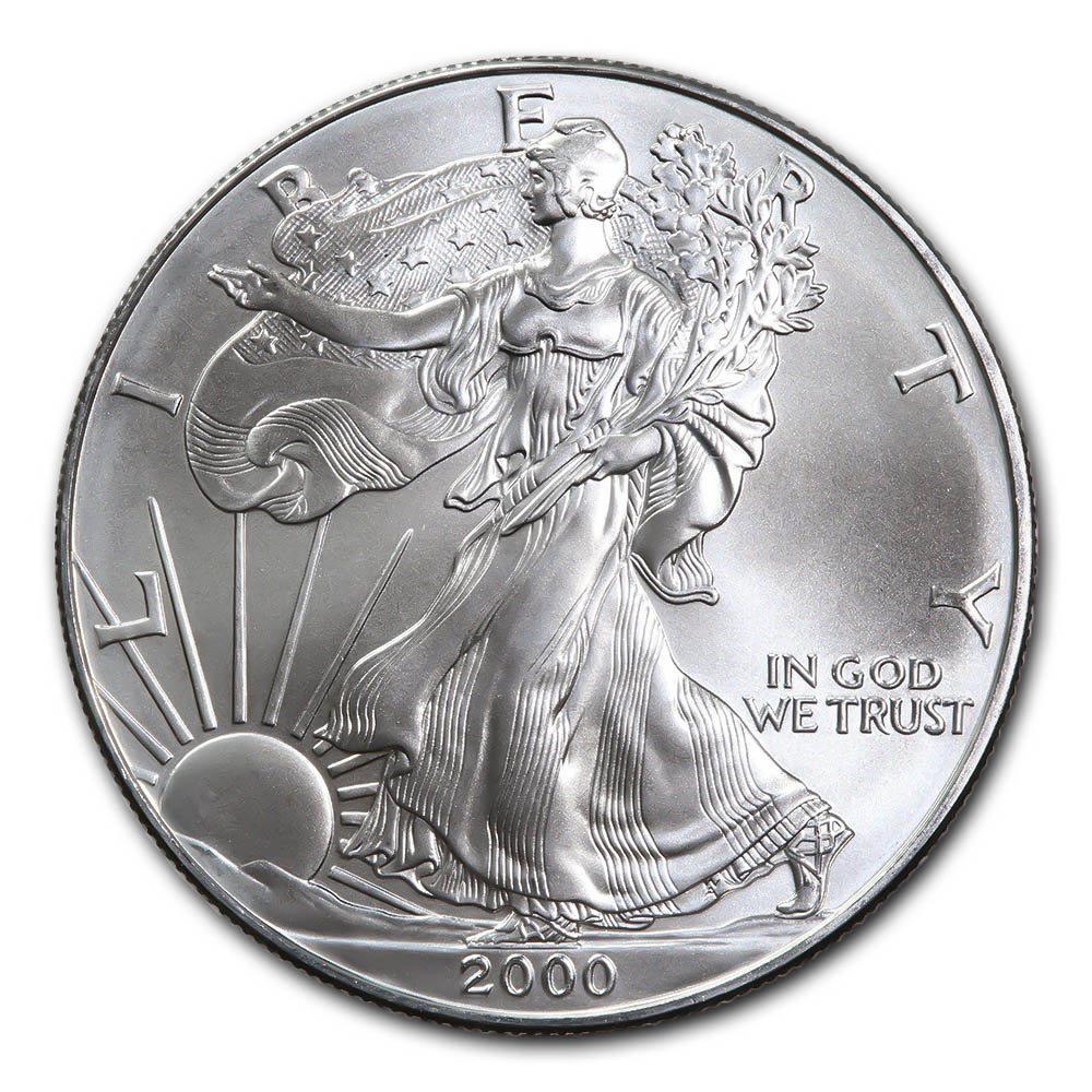 2000 1 oz Silver American Eagle BU #1AC66794