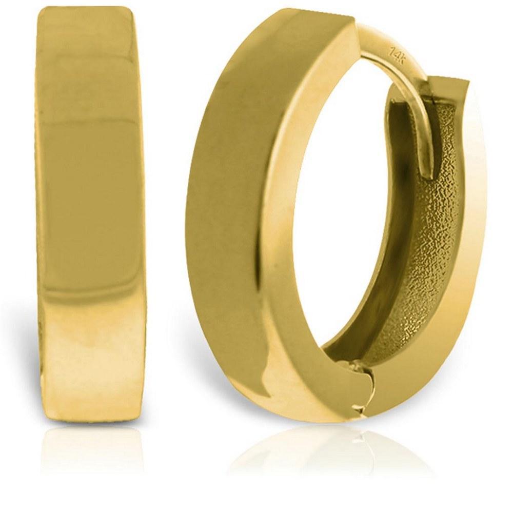 14K Solid Gold Glorietta Huggie Earrings #1AC91438
