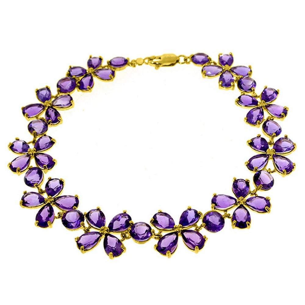 20.7 Carat 14K Solid Gold Bracelets Natural Amethyst #1AC91940