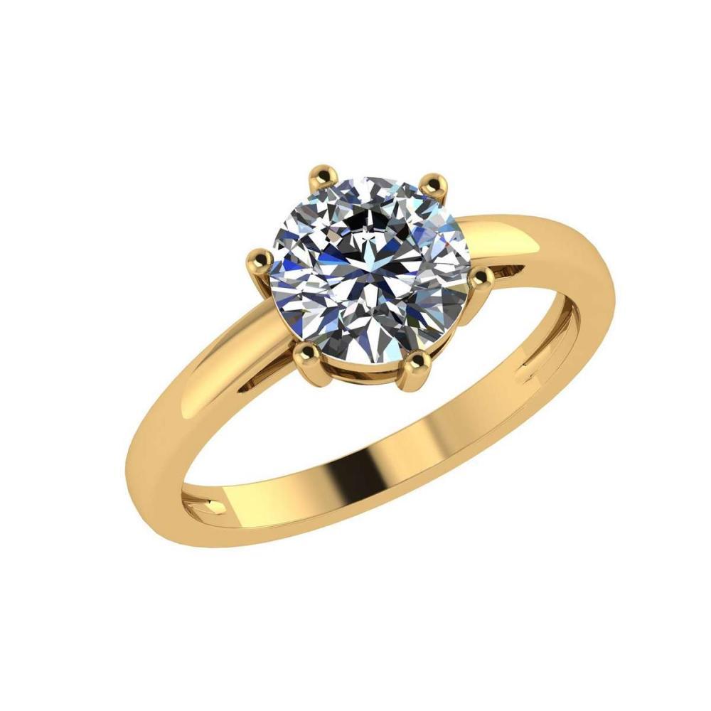 Certified 2.00 Ctw Diamond Engagement /Wedding 14K Yellow Gold Promises Ring #1AC17095