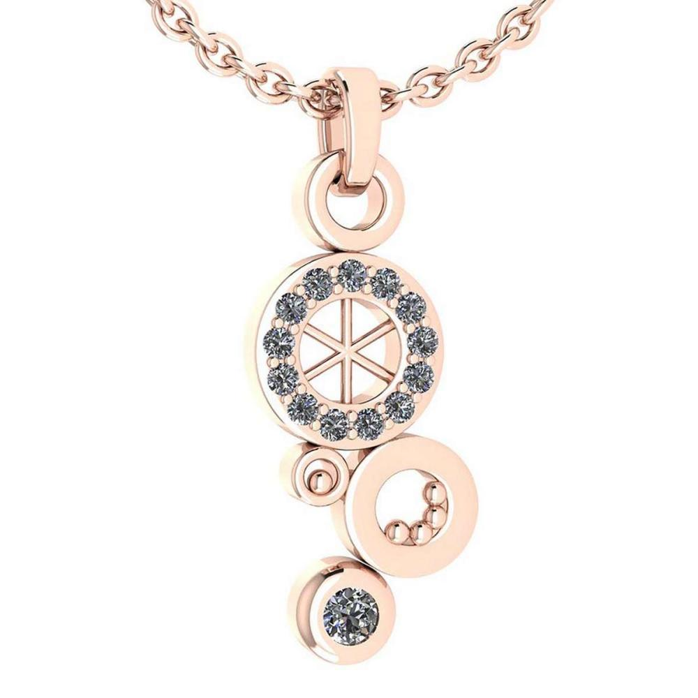 Certified 0.24 Ctw Diamond Octopus Styles Nekless For womens New Expressions nautical collection 14K Rose Gold (SI2/I1) #1AC16872