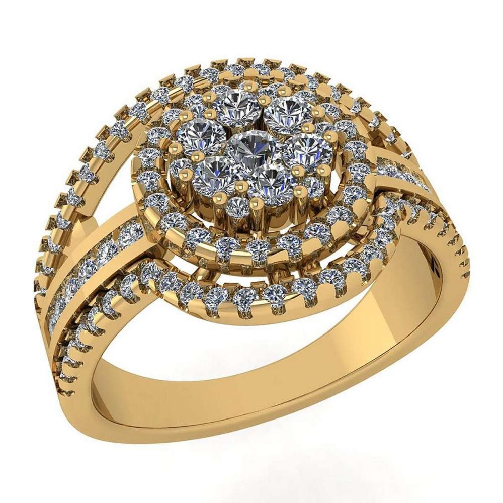 Certified 0.76 Ctw Diamond Ring For womens New Expressions of Love collection 14K Yellow Gold #1AC17228