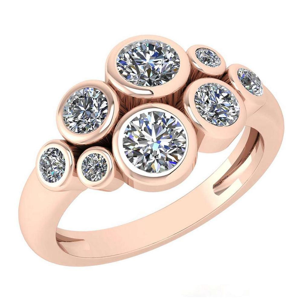 Certified 1.23 Ctw Diamond Ring For womens New Expressions of Love collection 14K Rose Gold #1AC17230