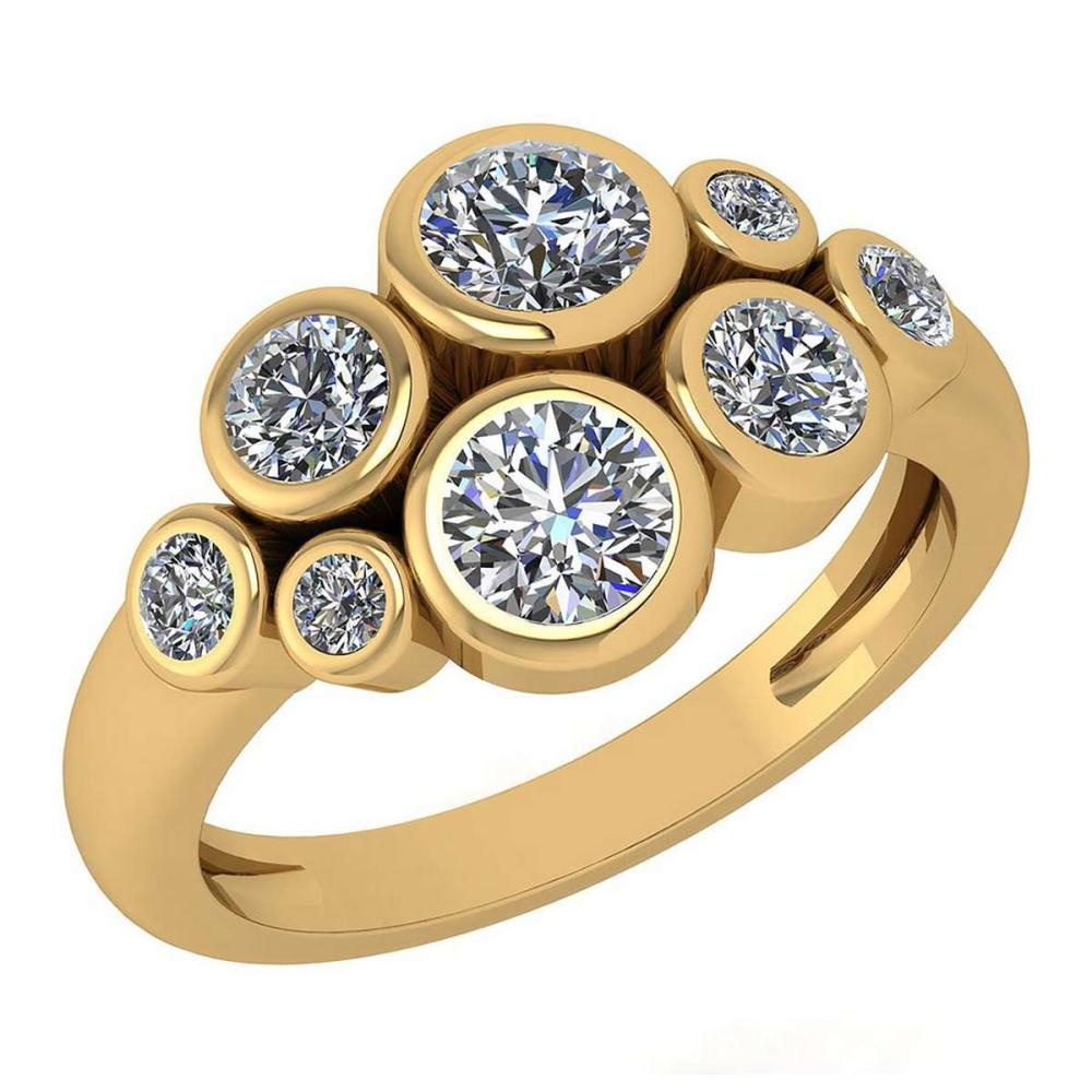 Certified 1.23 Ctw Diamond Ring For womens New Expressions of Love collection 14K Yellow Gold #1AC17231