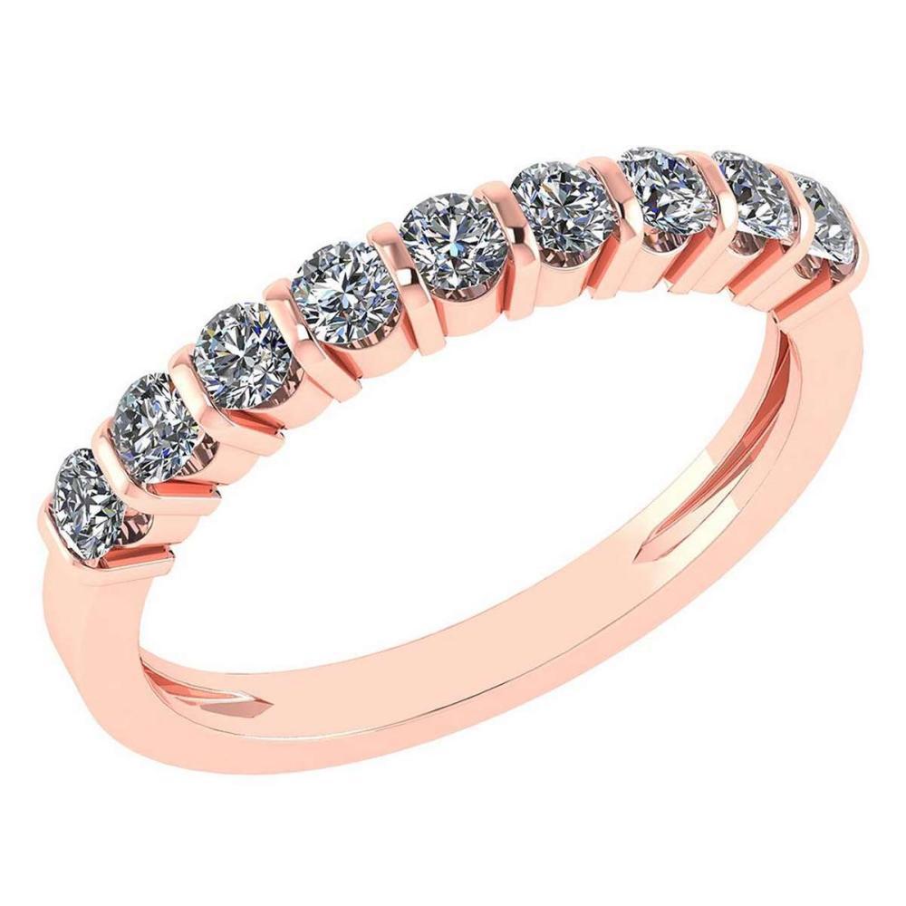 Certified 0.70 Ctw Diamond 14K Rose Gold Halo Ring #1AC17000