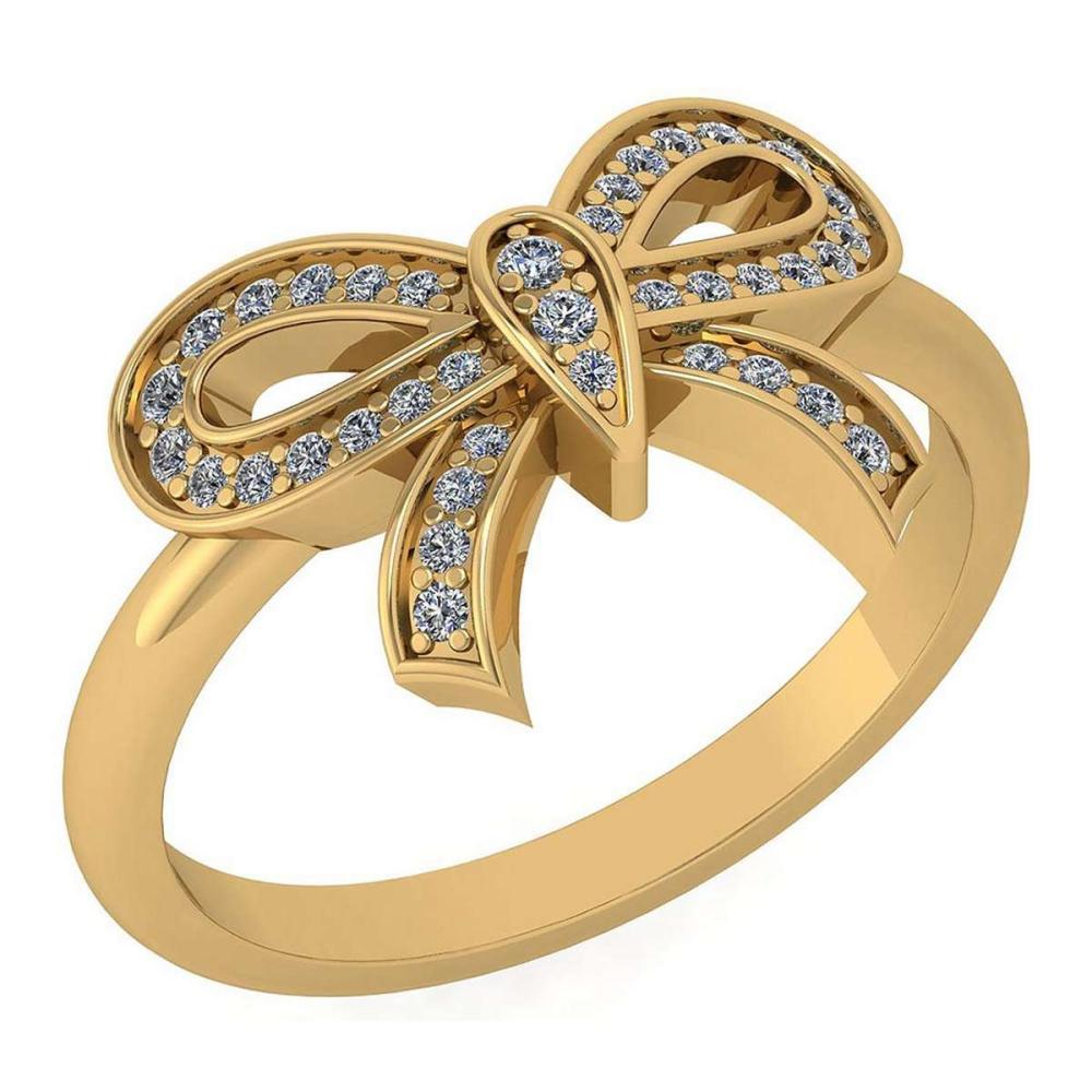 Certified 0.24 Ctw Diamond Ring For womens New Expressions of Love collection 14K Yellow Gold #1AC17213