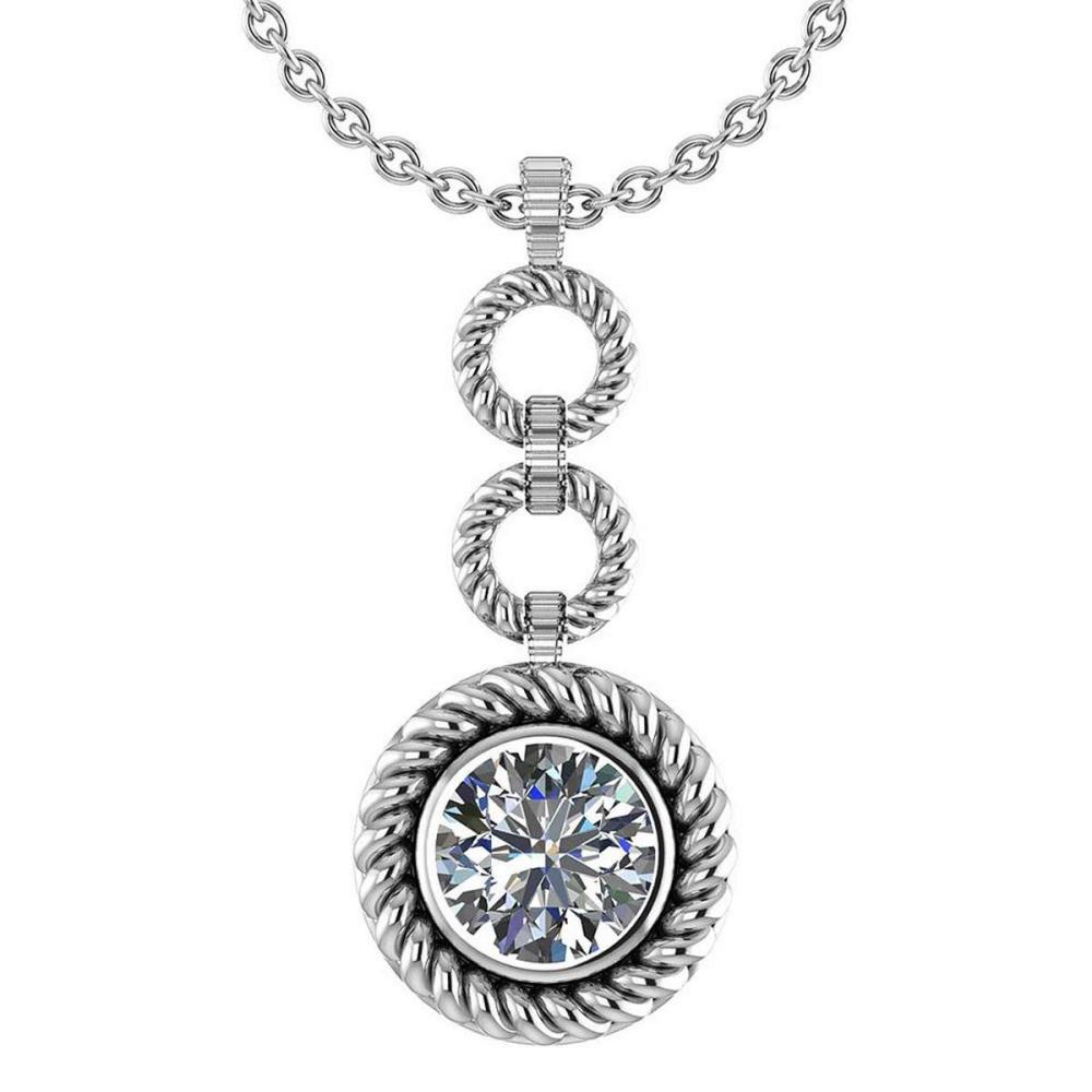 Certified 1.50 Ctw Diamond Necklace For womens New Expressions of Love collection 14K White Gold #1AC17214