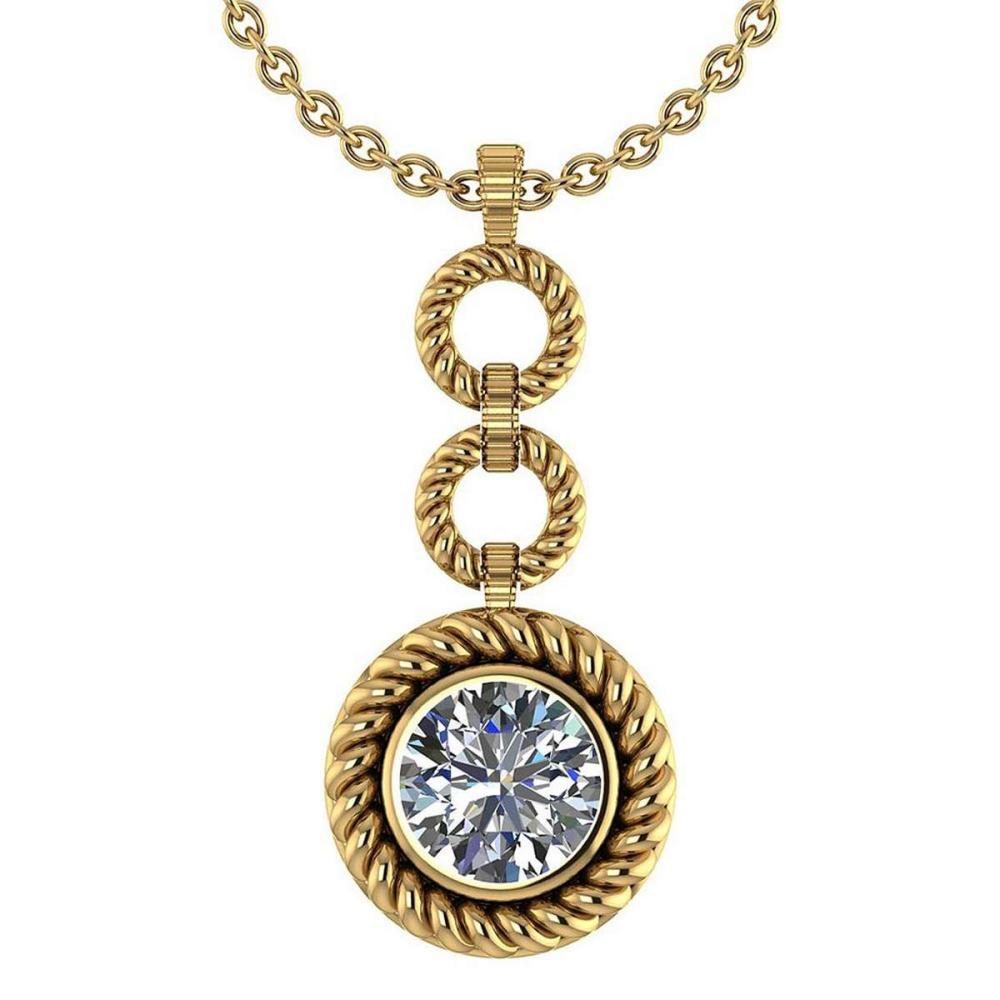 Certified 1.50 Ctw Diamond Necklace For womens New Expressions of Love collection 14K Yellow Gold #1AC17216