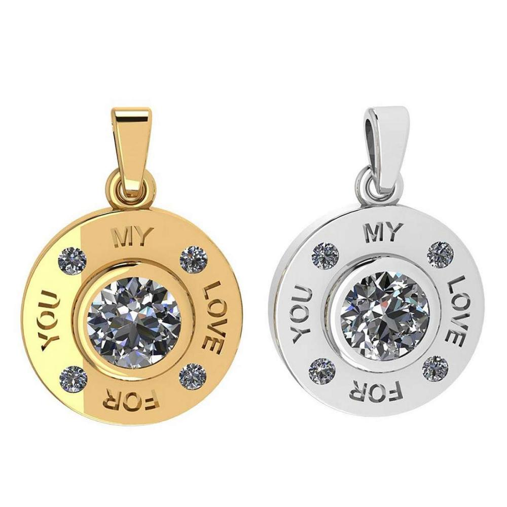 Certified 0.53 Ctw Diamond Nekless For Couples New Expressions of Love collection 14K Yellow And White Gold (SI2/I1) #1AC16877
