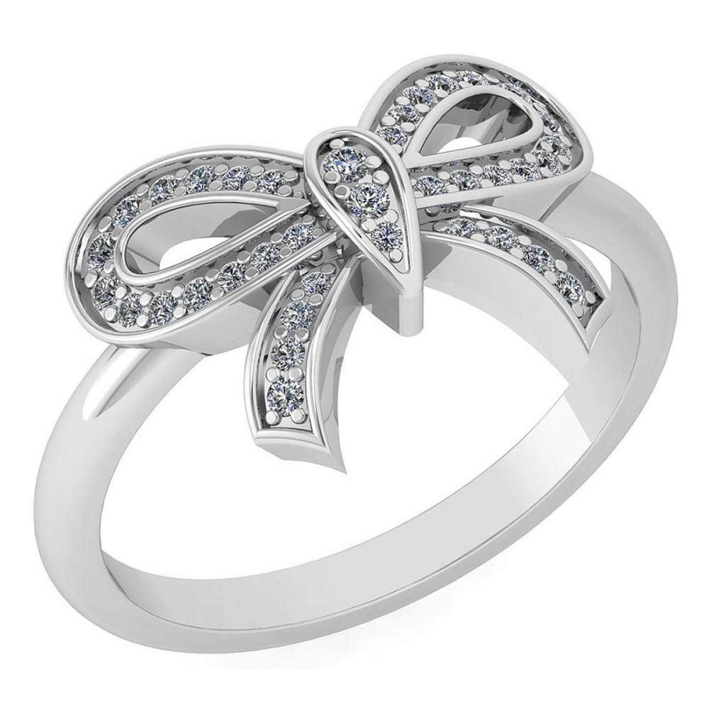 Certified 0.24 Ctw Diamond Ring For womens New Expressions of Love collection 14K White Gold #1AC17211