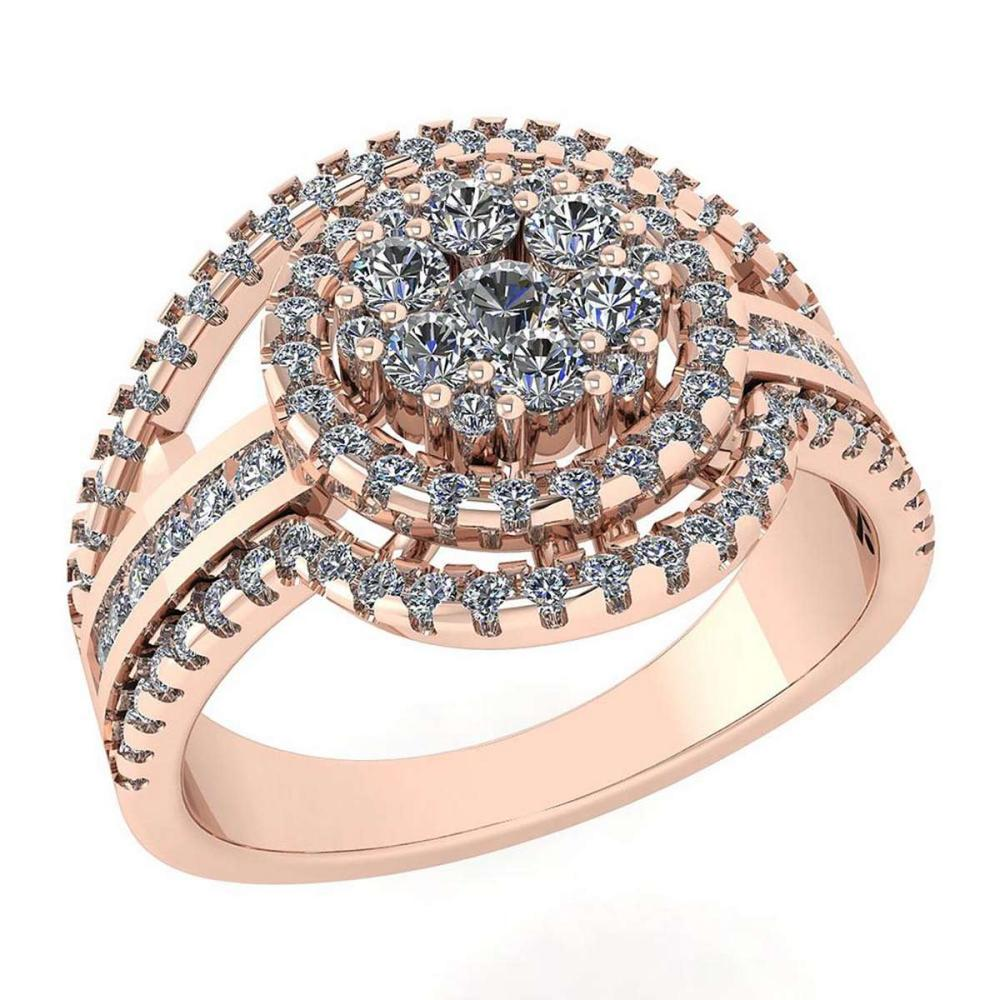 Certified 0.76 Ctw Diamond Ring For womens New Expressions of Love collection 14K Rose Gold #1AC17227