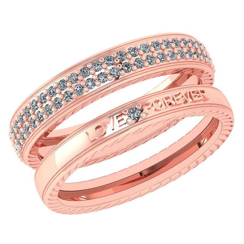 Certified 1.00 Ctw Diamond Wedding/Engagement 14K Rose Gold Halo Band #1AC16982