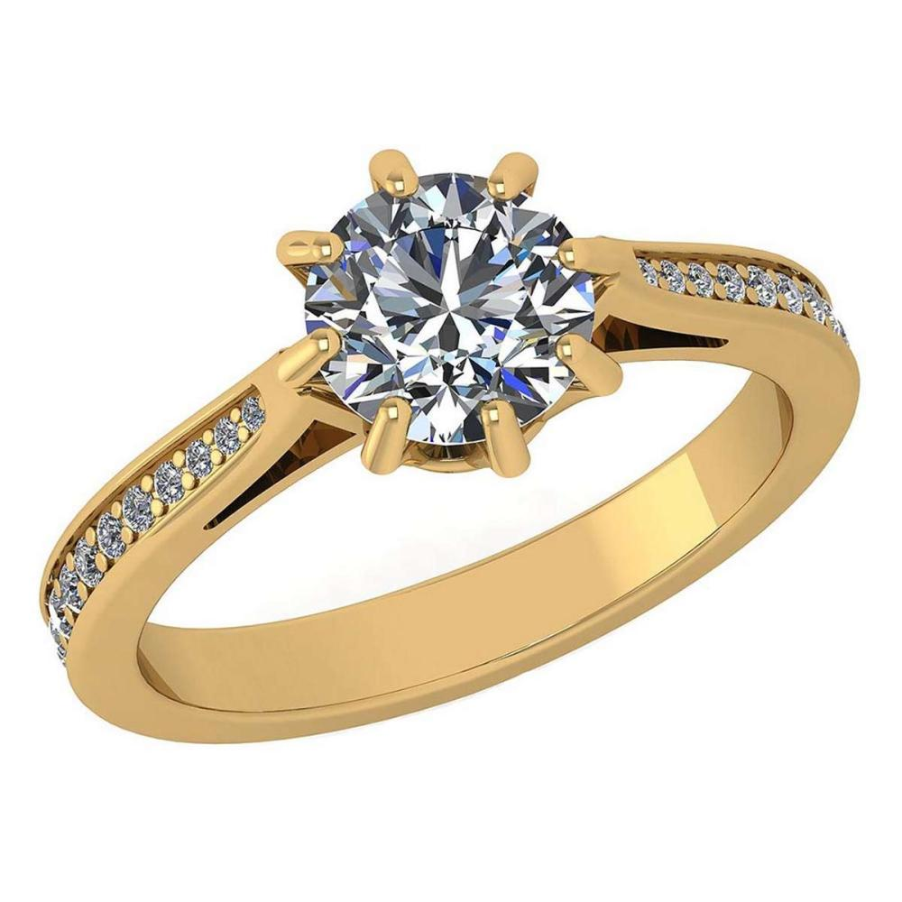 Certified 0.99 Ctw Diamond Ring For womens New Expressions of Love collection 14K Rose Gold #1AC17233