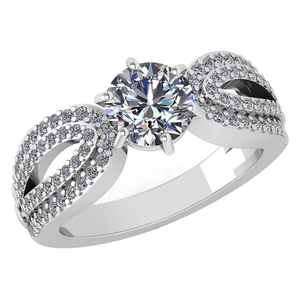 Certified 1.82 Ctw Diamond Engagement /Wedding 14K Yellow Gold Promise Ring #1AC17038