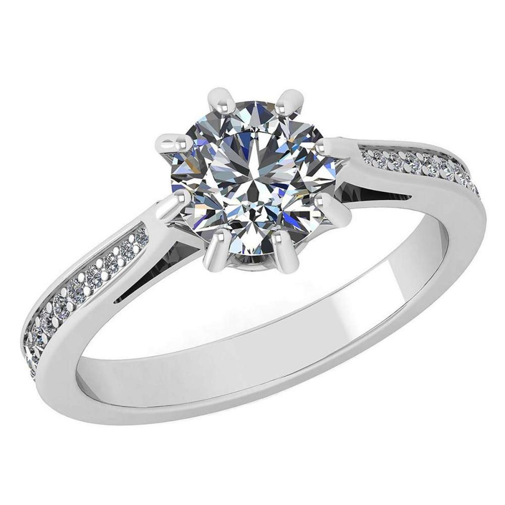Certified 0.99 Ctw Diamond Ring For womens New Expressions of Love collection 14K White Gold #1AC17232
