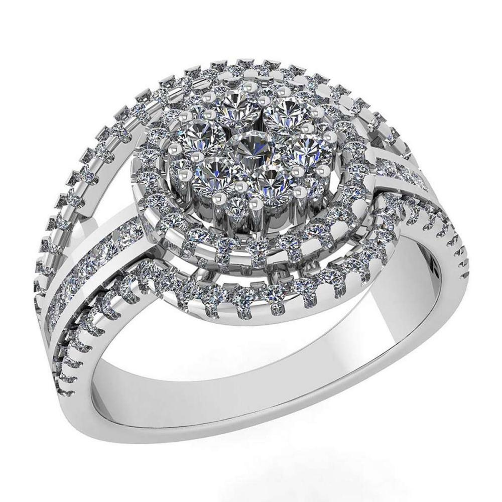 Certified 0.76 Ctw Diamond Ring For womens New Expressions of Love collection 14K White Gold #1AC17226