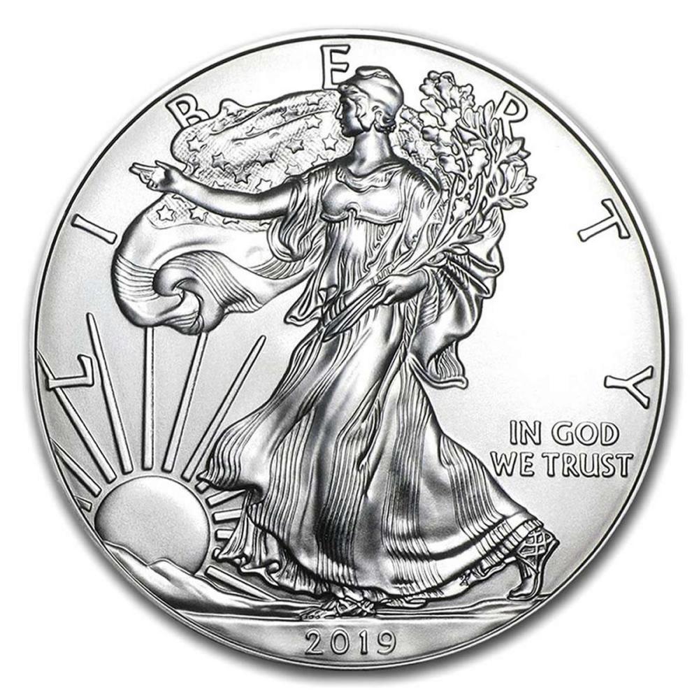 2019 1 oz Silver American Eagle BU #1AC96631