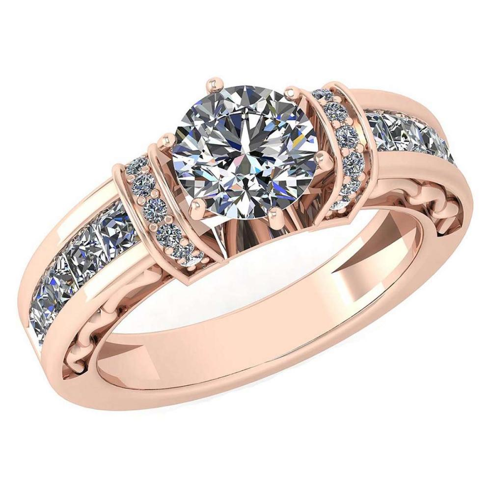 Certified 2.15 Ctw Diamond Halo Ring For Engagement New Expressions love collection 14K Rose Gold (SI2/I1) #1AC19228