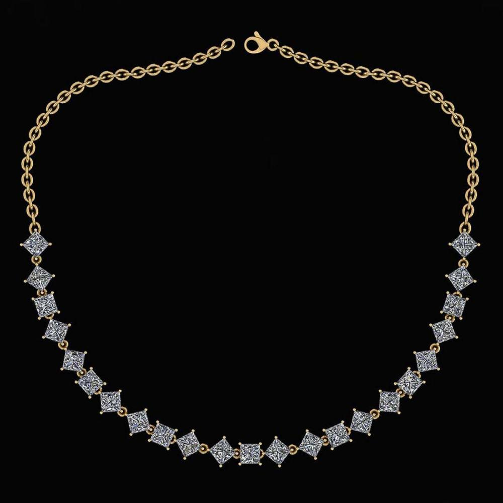 Certified 18.75 Ctw Diamond Necklace For Ladies 14K Yellow Gold (SI2/I1) #1AC19326