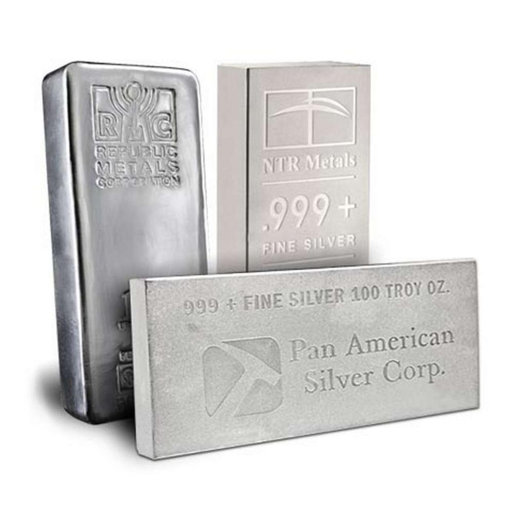 Random Manufacturer Silver Bar 100 oz #1AC96539
