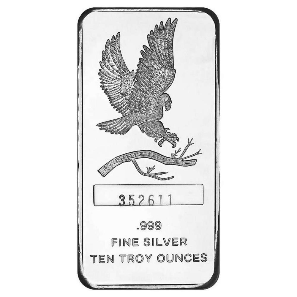 SilverTowne 10 oz Silver Bar - Eagle Design #1AC96527