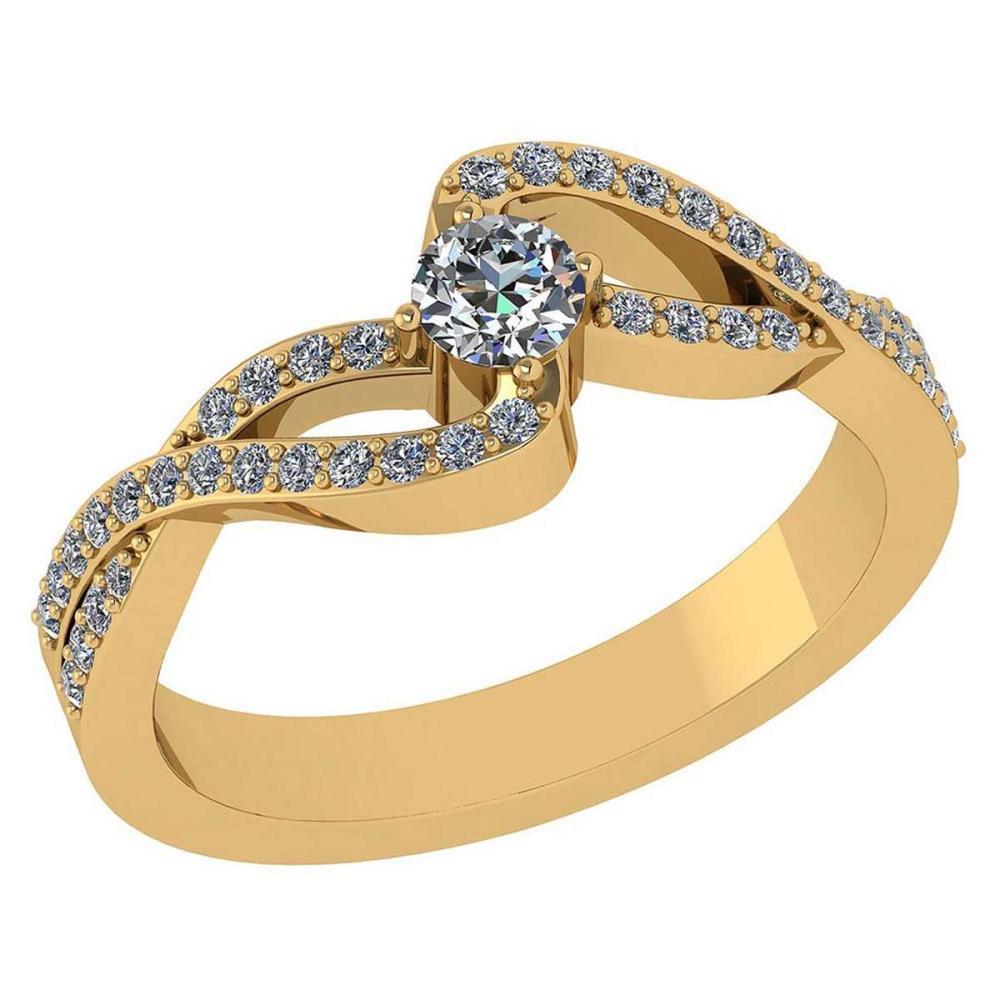 Certified 0.61 CTW Diamond 14k Yellow Gold Halo Ring #1AC98754