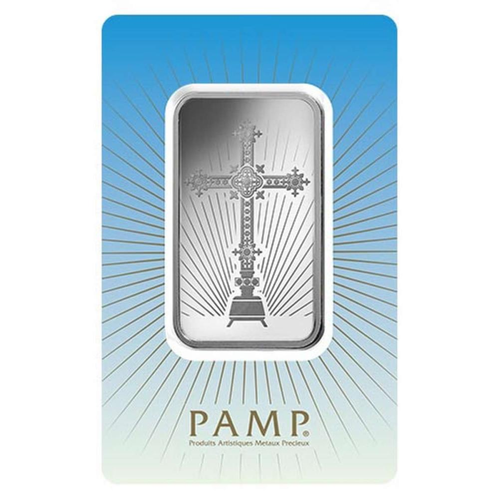 PAMP Suisse Silver Bar 1 oz - Romanesque Cross #1AC96517