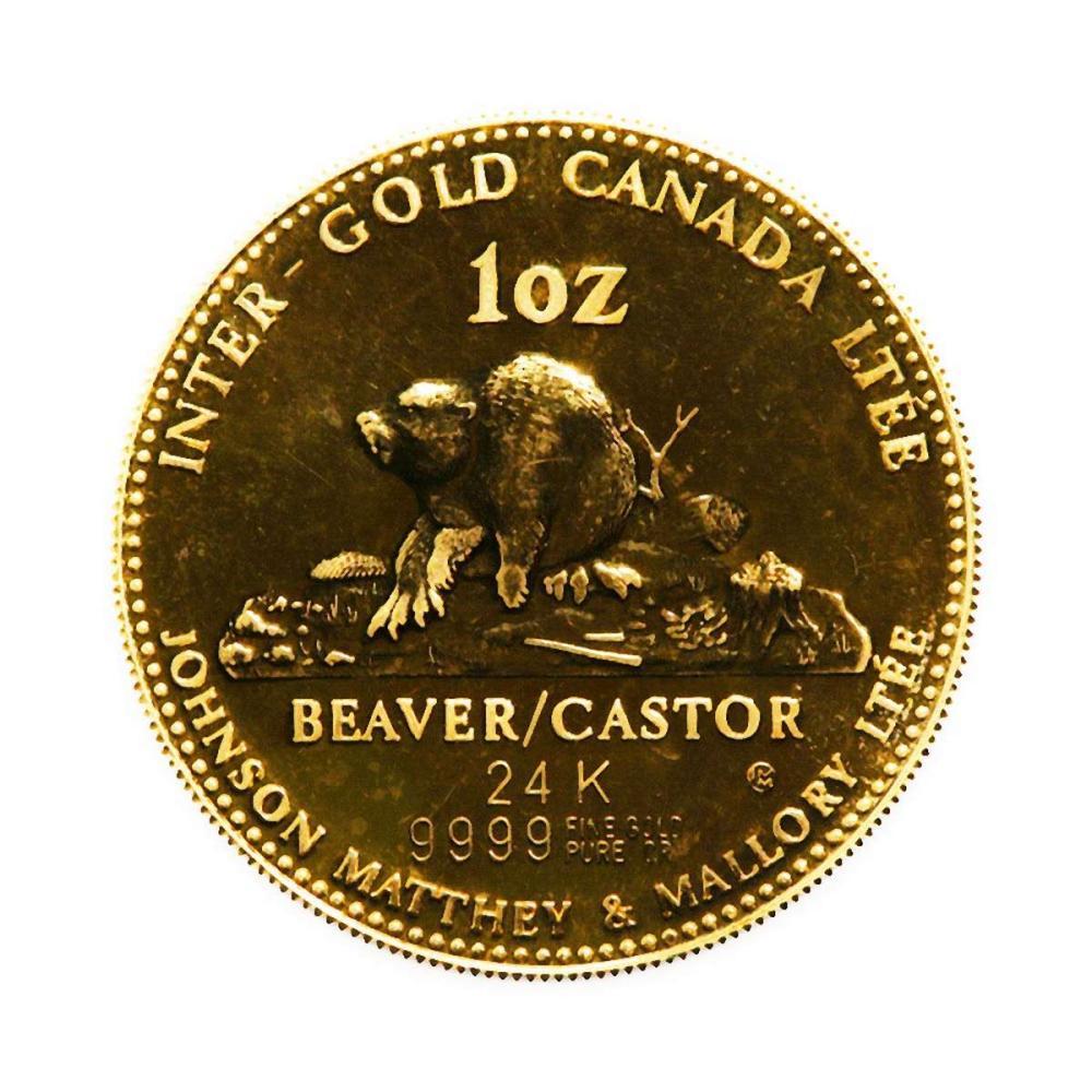 Canada 1 oz. Gold PL 1979 Johnson Matthey--Beaver--Queen Victoria #1AC96458